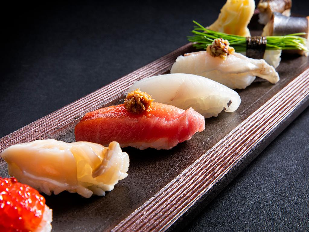 【秋・会席一例】厳選魚介をお寿司でもどうぞ(変更の場合あり)