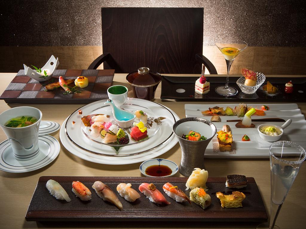 【2020年冬・会席一例】洋テイストも取り入れたWine&Sushi会席です。(変更の場合あり)