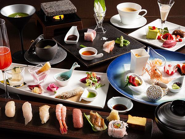 """【2021年春・会席一例】「Blue Seasons」にて青函の旬魚を楽しむ""""スタイリッシュ""""な夜の寿司会席。"""