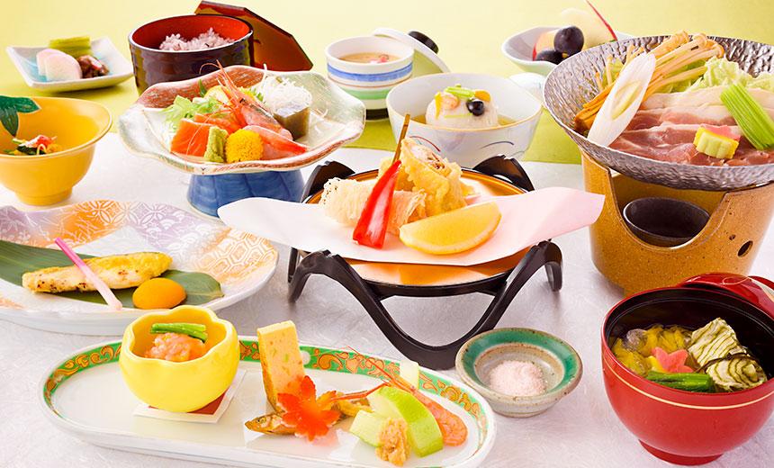 松コースのお料理です