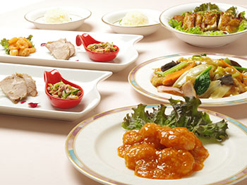 【中国料理 桃苑】主菜を二品選べる夕食付プラン