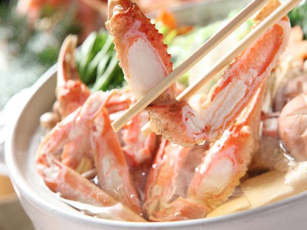 【カニすき鍋】姿蟹・雑炊セット付