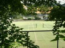 人口芝のテニスコート(2面)