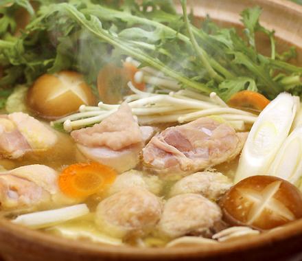 湯けむり地鶏の鶏すき鍋