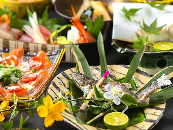 【川魚会席プラン】●清流を満喫する和食会席1泊2食!●清らかな水で育った!ここでしか味えない味覚を♪