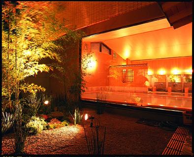 竹林の湯 夜