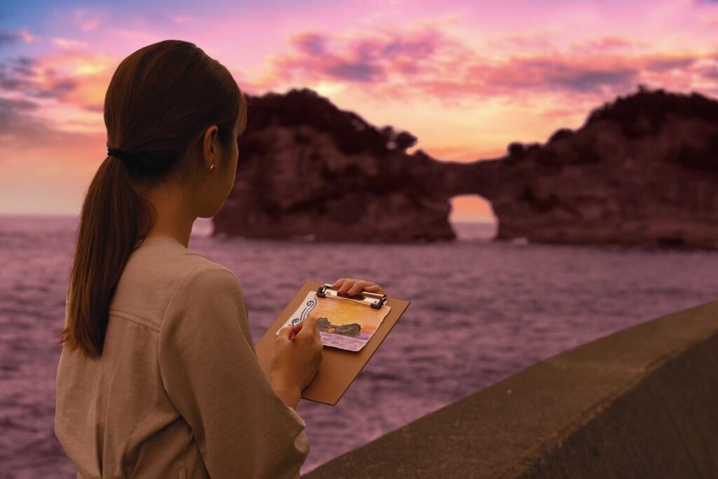 円月島でのスケッチイメージ
