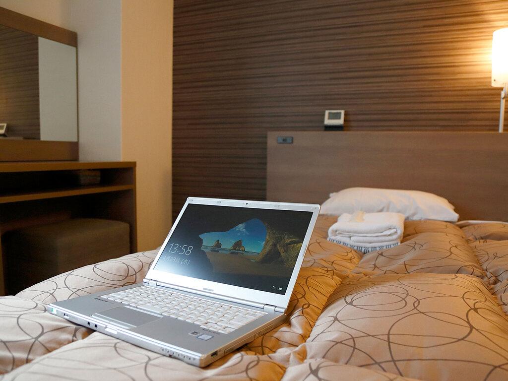 ・全室Wi-Fiルーター設置、高速通信が無料でご利用頂けます