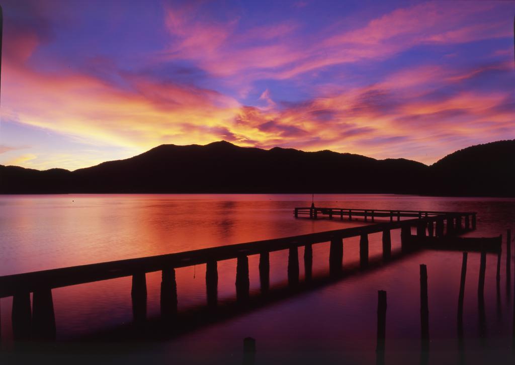 野尻湖の夕景