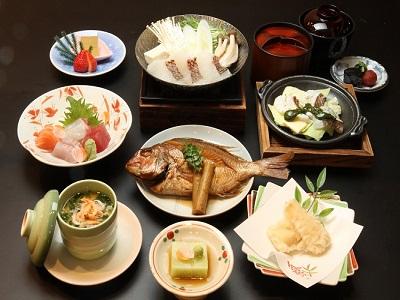 春限定 鯛三昧会席のお料理イメージ