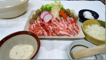 自然薯鍋(豚肉)