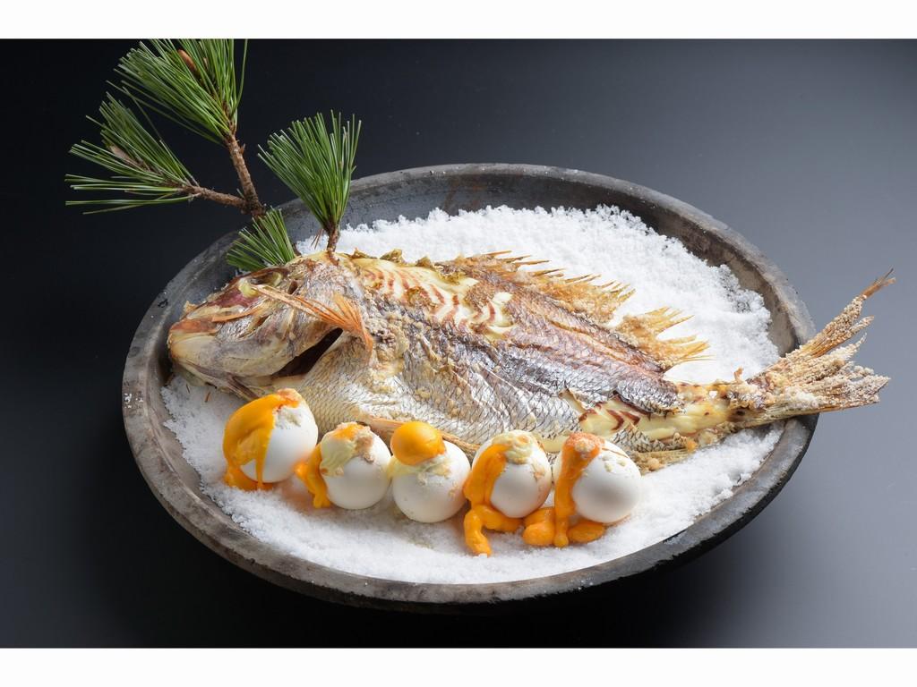 鳴門鯛の宝楽焼