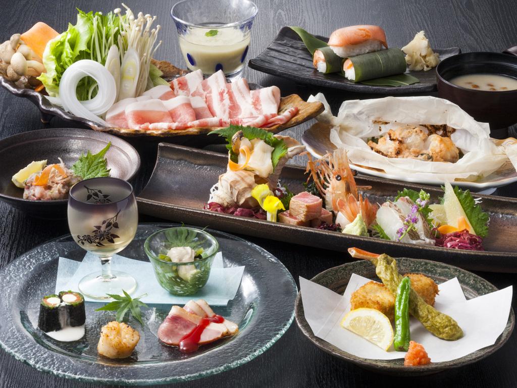 【食彩比羅夫】懐石一例/日本海と太平洋に近く、肥沃な大地に恵まれたニセコの旬会席をご堪能ください