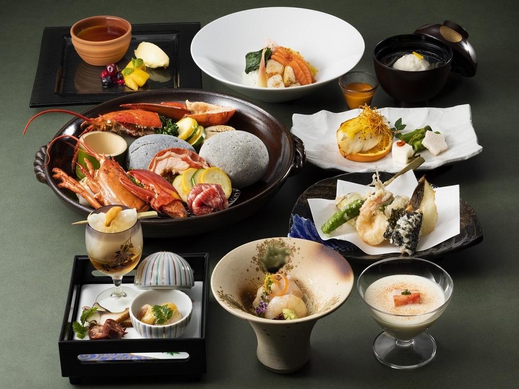 【食彩比羅夫】メニュー一例/日本海と太平洋に近く、肥沃な大地に恵まれたニセコの旬をご堪能ください