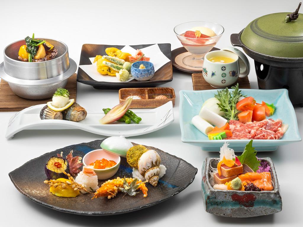 【特別和食膳】道産和牛や倶知安じゃが芋540など地元の食材をふんだんに使用しております(イメージ)