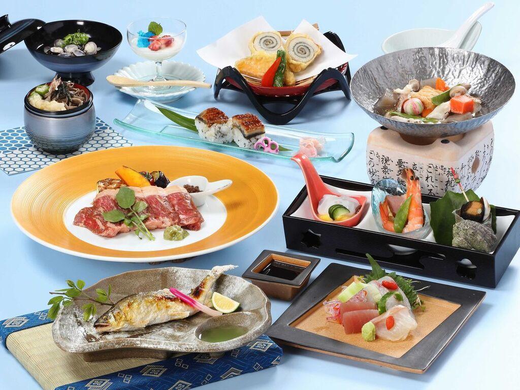 香魚−鮎の塩焼き付き会席料理
