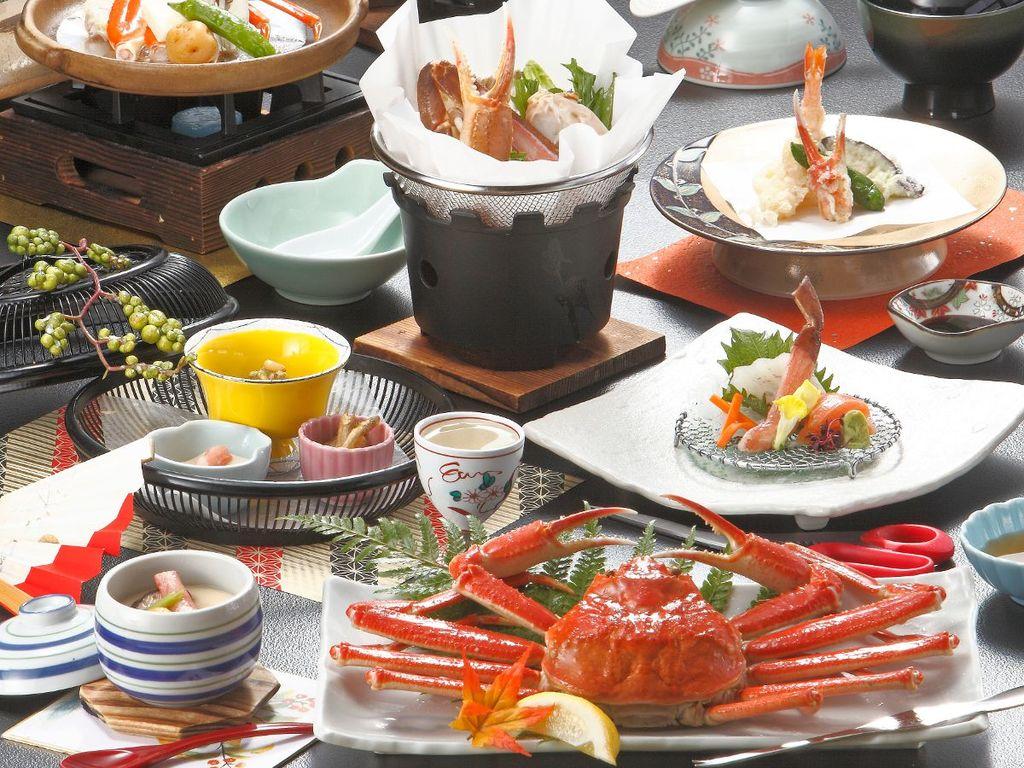 お一人様につき蟹2杯相当!心行くまで蟹料理をお楽しみください。