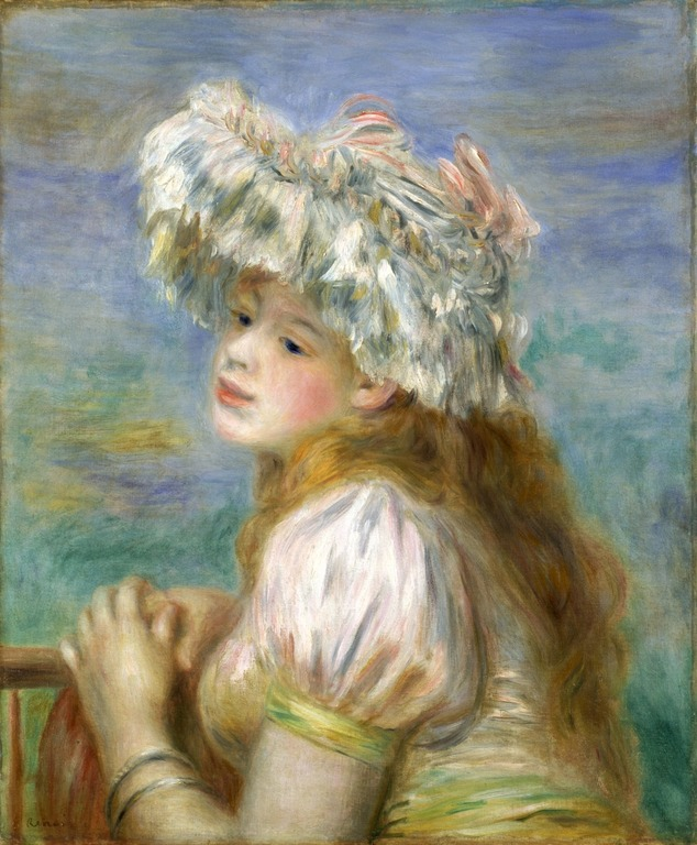 ポーラ美術館 レースの帽子の少女