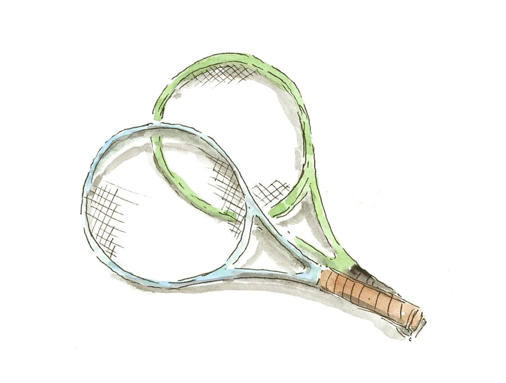 テニスラケットは無料でお貸出し致します