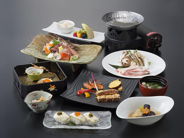 ご夕食は、『湯波会席』《秋のイメージ》