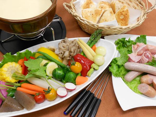 ご夕食は、熱々とろ〜り《チーズフォンデュ》
