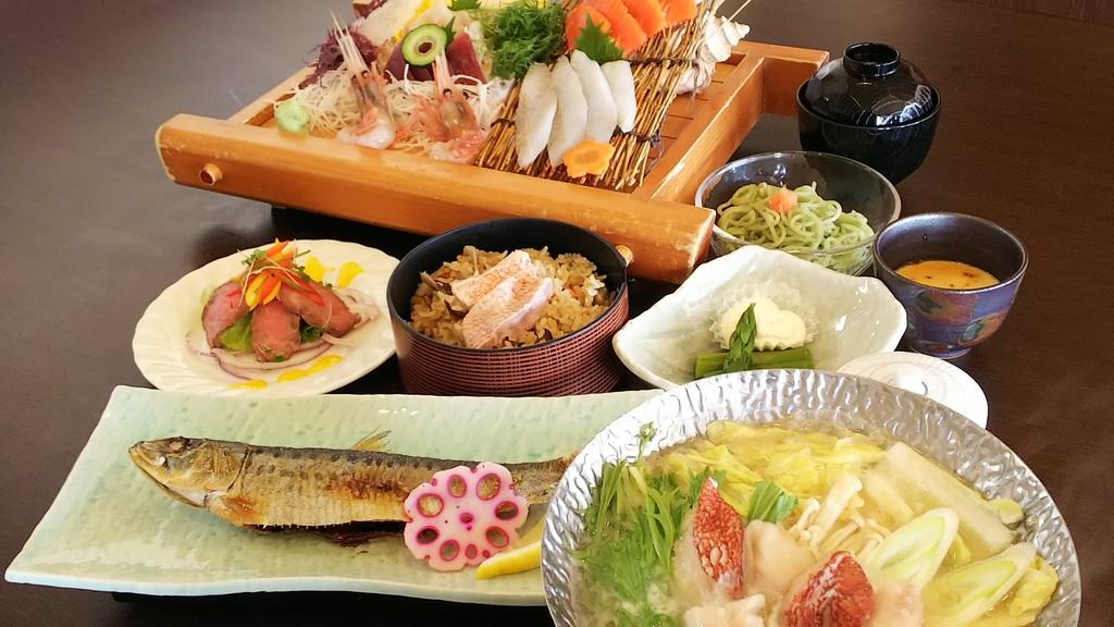 和食会席・旅篭膳(ベーシック)プラン♪お料理イメージ