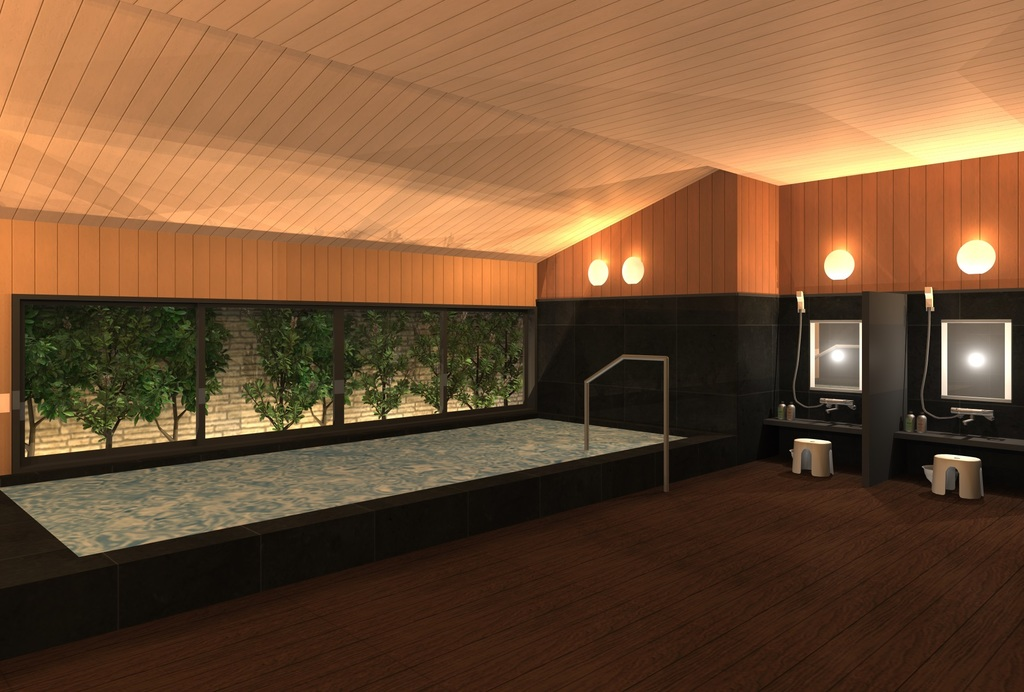ホテル自慢の大浴場