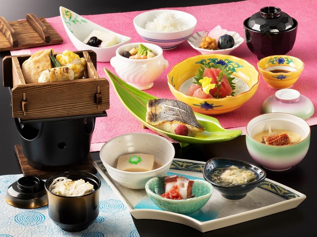 「桜」御膳プラン 夕食一例(2017年4月〜6月)