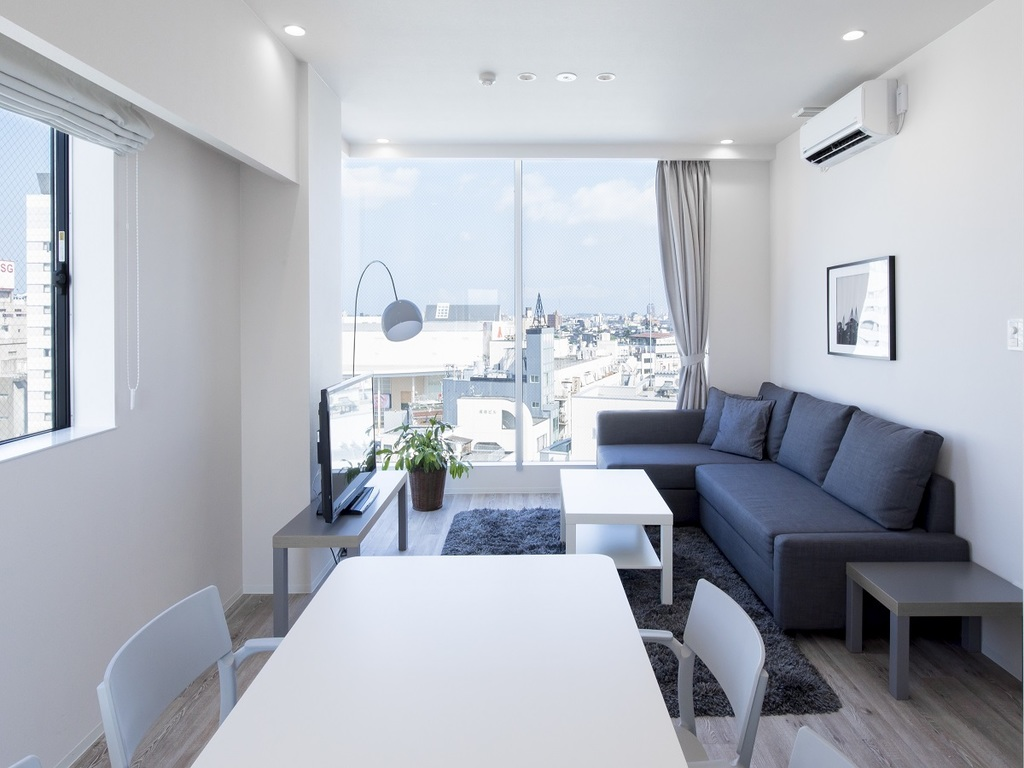Deluxe with downtown view and sofa-bed