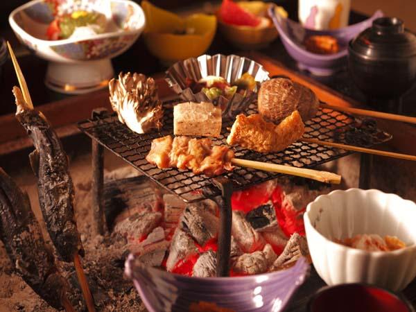 【夕食】白山いろり炭火膳「しゃくなげ」