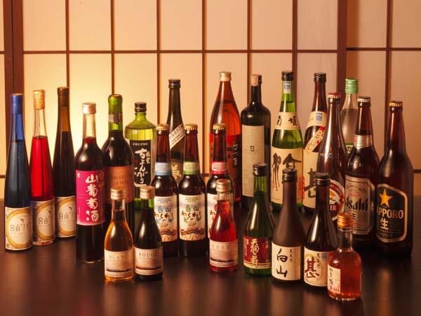 イメージです。飲み放題プランにはホテル指定品のみとなり、一部含まれません