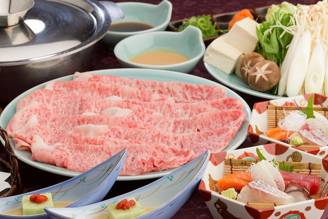 神戸牛しゃぶしゃぶコース(一例)