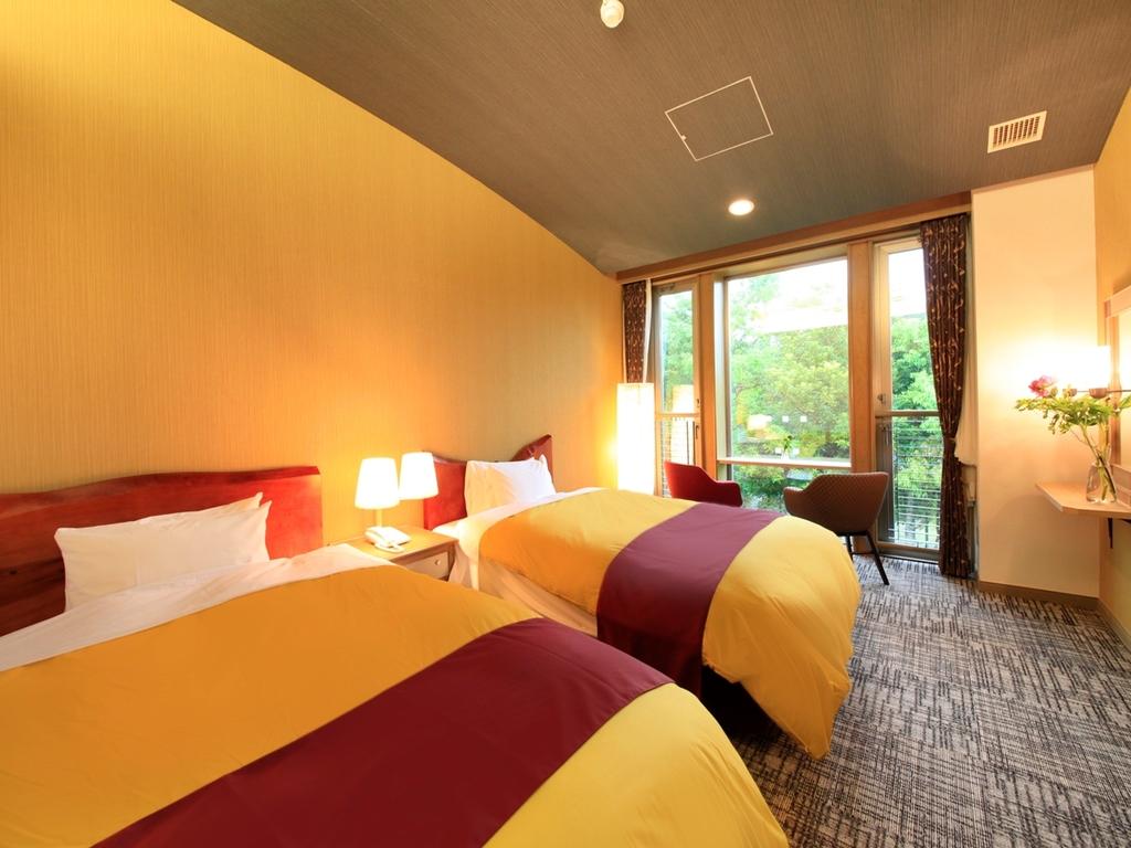 寝心地がよいと好評のシモンズ製ベッドを採用