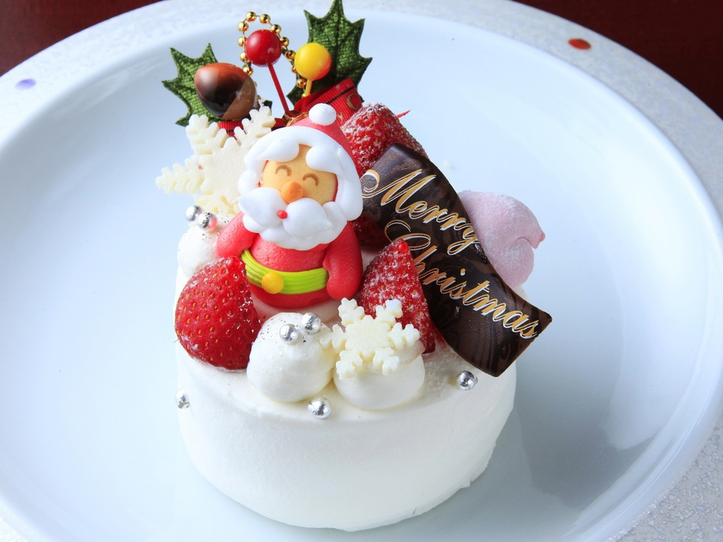 カフェ・ド・天翠専属パティシエ特製のクリスマスケーキ ※イメージ