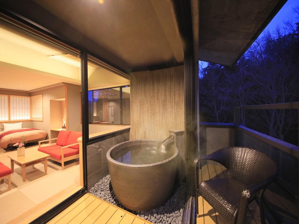 温泉半露天風呂付き和洋室