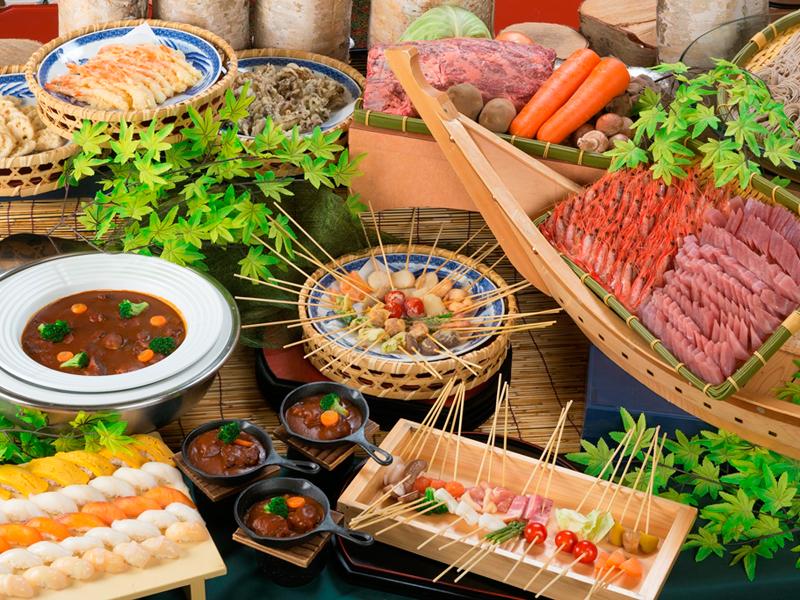 【夕食バイキング】地元食材や季節の旬を取り入れた内容です!