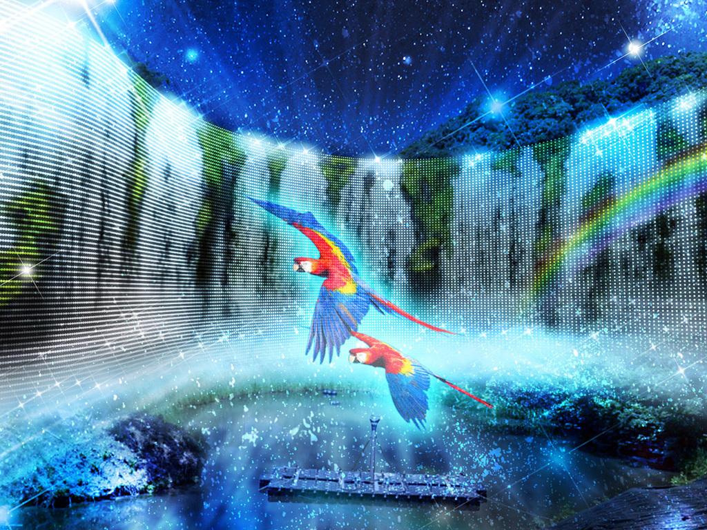 【大自然と光の共演-イグアスの滝-】