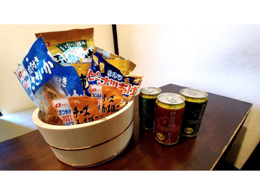 おつまみ&時之栖地ビール(缶)