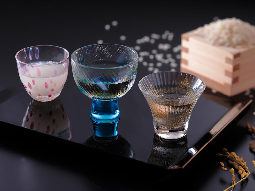 京都の地酒三種・日本酒飲み比べ(イメージ)