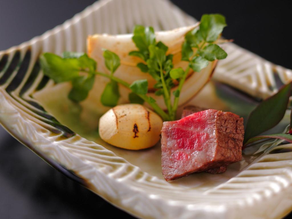 A Japanese-style kaiseki course meal.