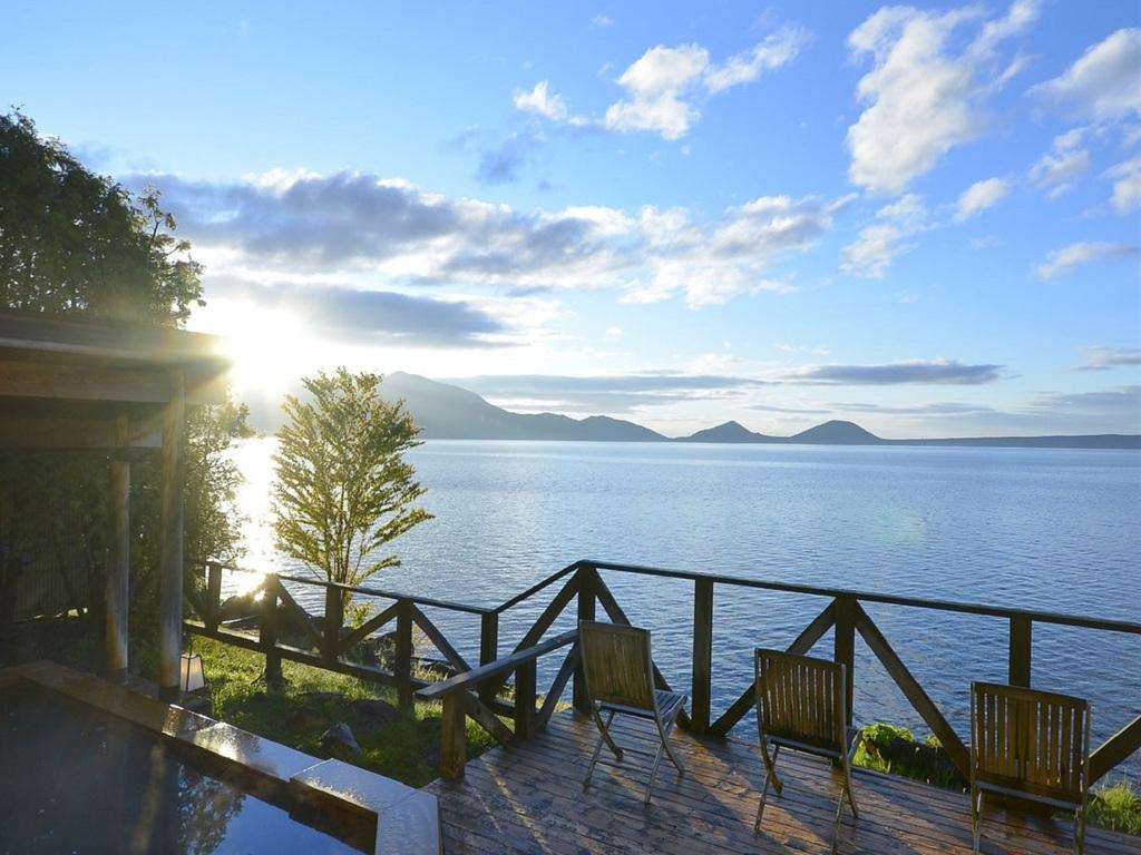 支笏湖一望の絶景が楽しめる大浴場の展望露天風呂