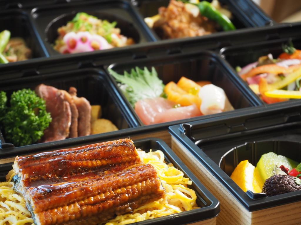 ご夕食弁当のイメージ。静岡の名産品をたっぷりと詰め込みました。
