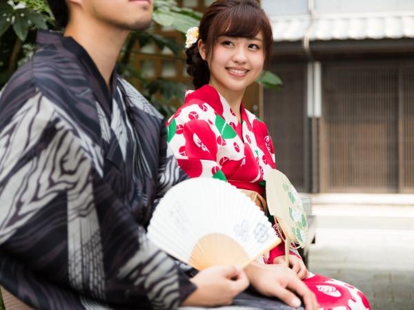 【着物レンタル★カップルプラン】大切な人とふたりで京都をぶらり♪着付けと返却はホテルでOkなので楽ちん♪