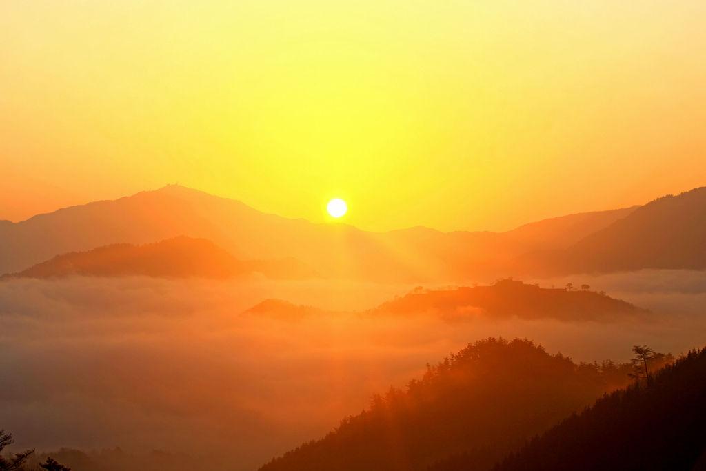 竹田城跡を眺めるには、「立雲峡」がおすすめ。