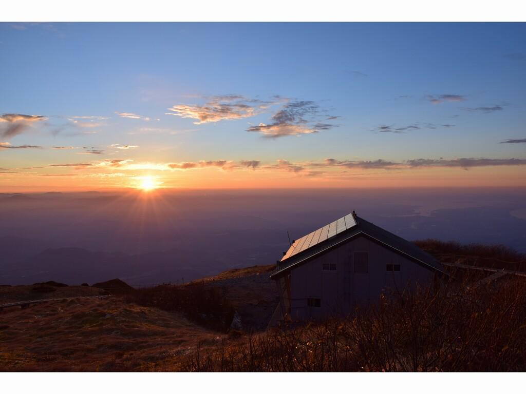 山頂より夕日
