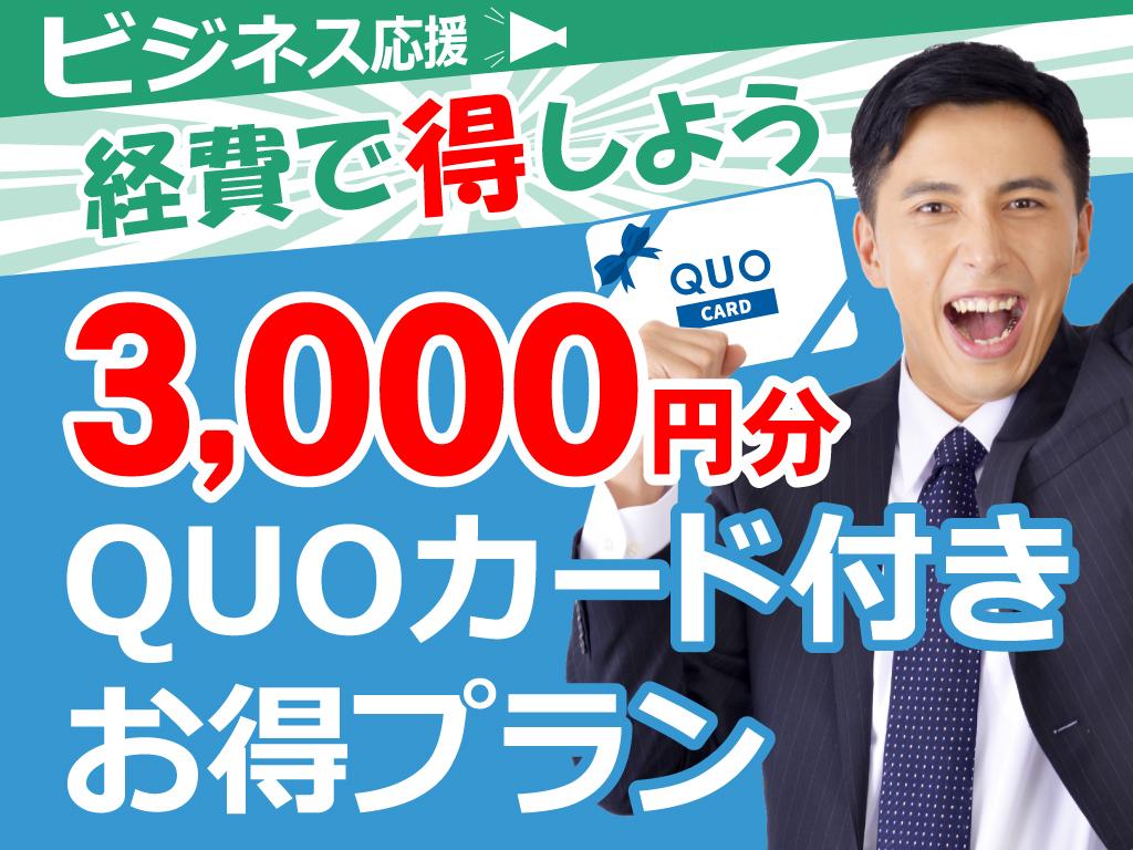 3000円QUOカード付きプラン(素泊まり)