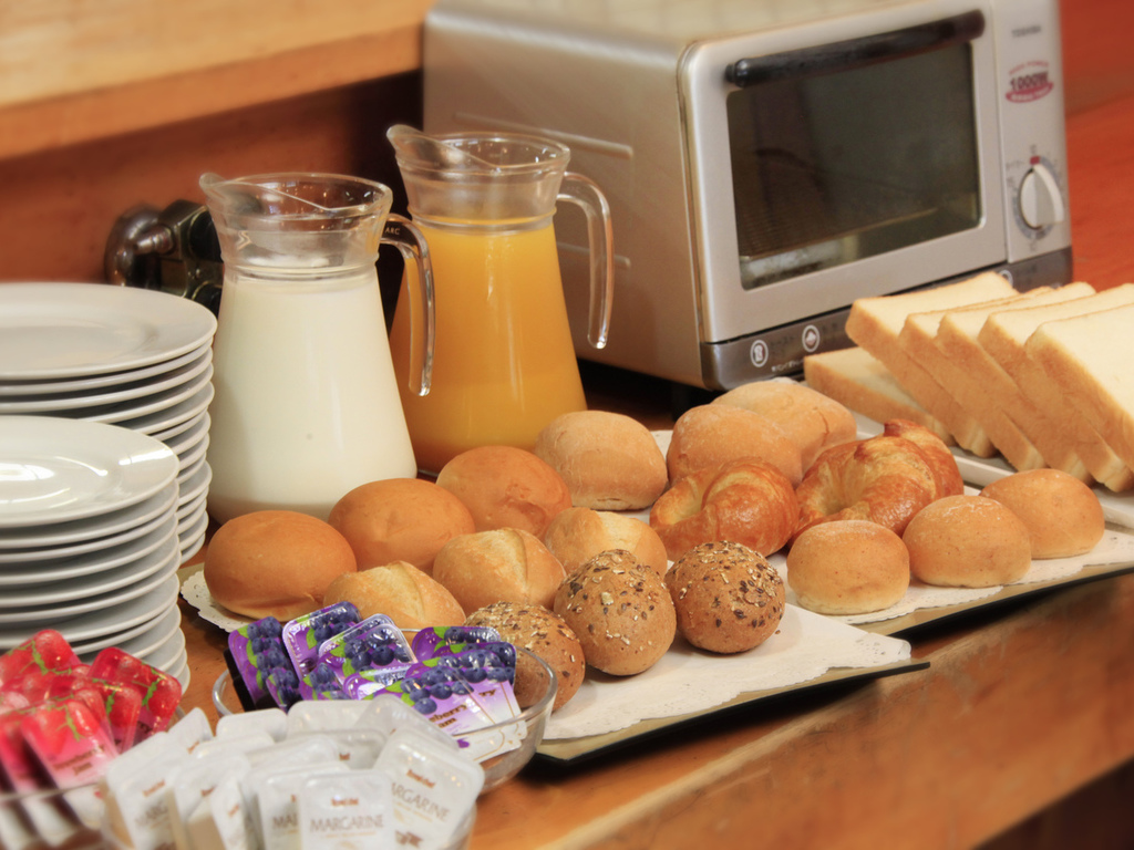 無料の朝食コーナー
