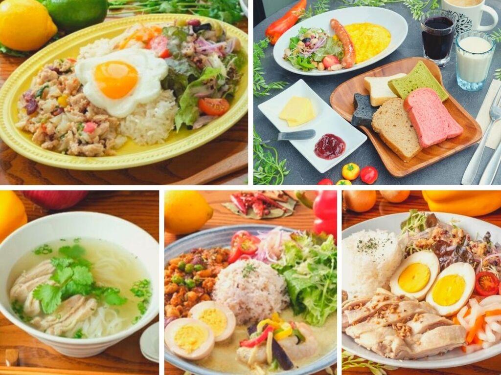 アジアン朝食プレート