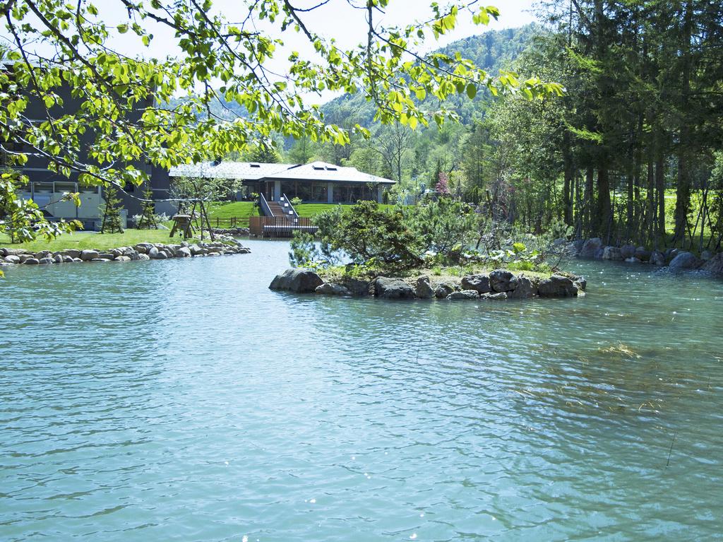 【池泉】 先代から受け継いだ庭園と大きな池泉