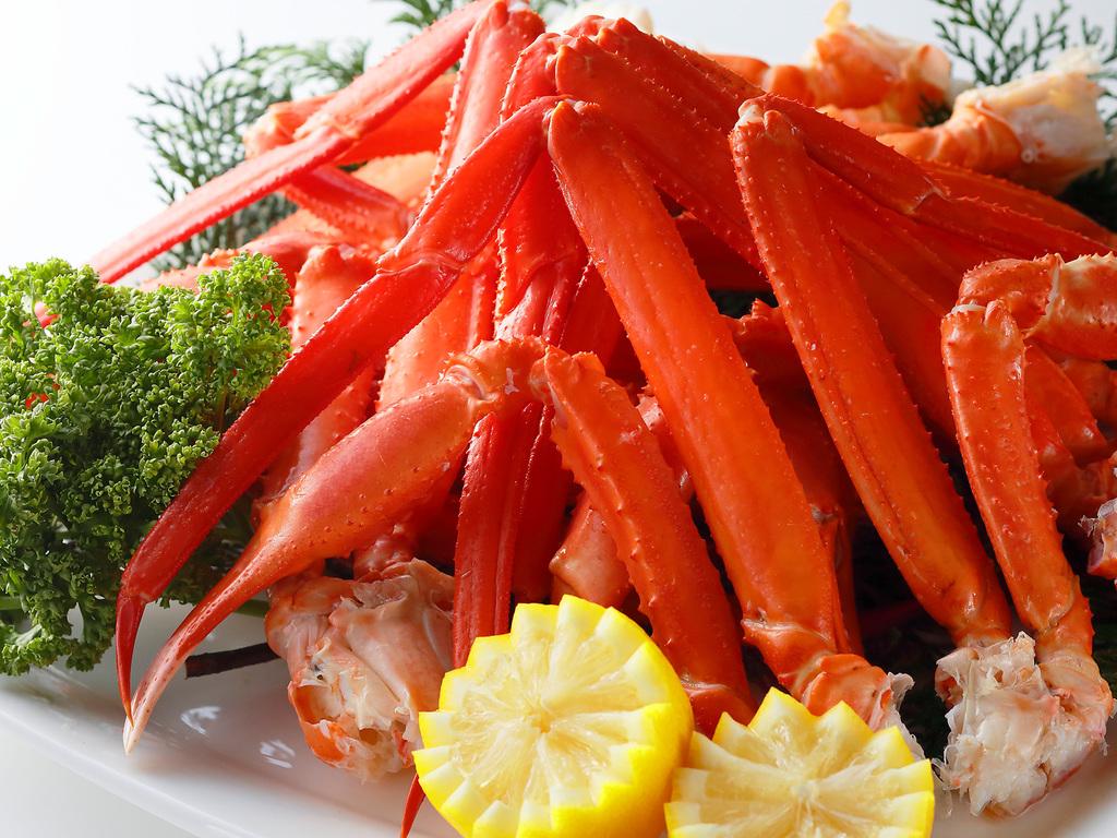 新春スペシャルメニューのボイルずわい蟹ももちろん食べ放題
